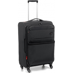 "27"" Expandable Medium M Spinner Luggage Black"