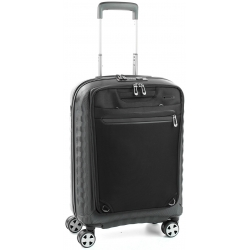 "22"" International Carry-On Spinner Smart Luggage Black/Black"