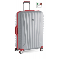 "32"" Spinner Luggage Red/Silver"