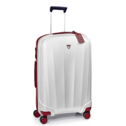 "28"" Spinner Luggage White-Red"