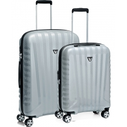 "Set 2 Spinner Luggage Silver/Carbon (32"" Spinner + 22"" Domestic Carry-on)"